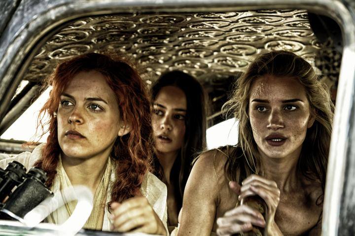 Riley Keough, Rosie Huntington-Whiteley, and Courtney Eaton in Mad Max: Fury Road (2015)