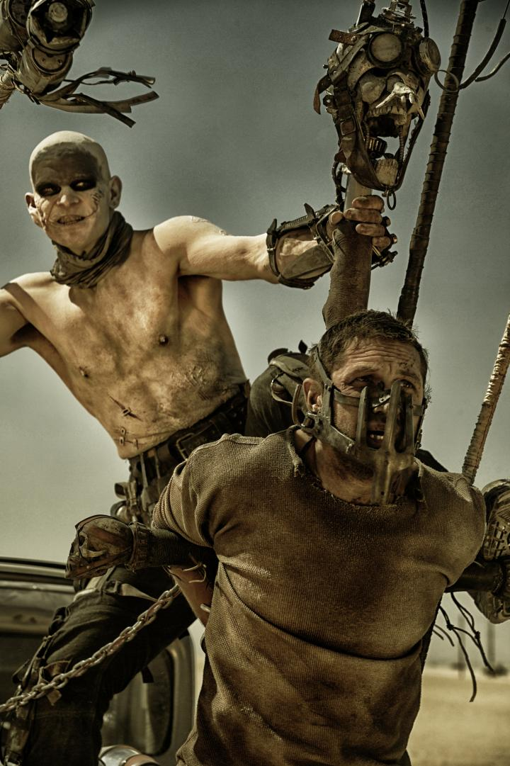 Tom Hardy and Josh Helman in Mad Max: Fury Road (2015)
