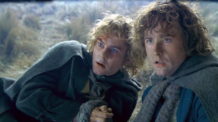 Billy Boyd and Dominic Monaghan in The Lord of the Rings: The Two Towers (2002)