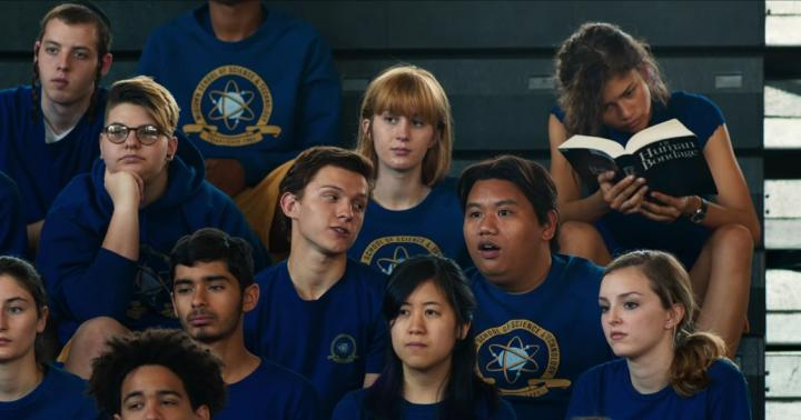 Zendaya, Tom Holland, and Jacob Batalon in Spider-Man: Homecoming (2017)