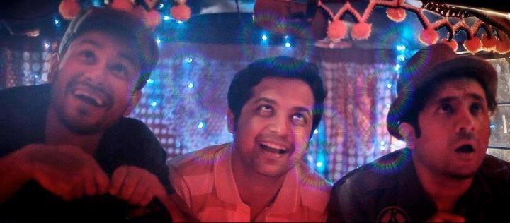 Kunal Khemu, Vir Das, and Anand Tiwari in Go Goa Gone (2013)