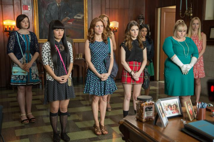 Anna Kendrick, Brittany Snow, Rebel Wilson, Hana Mae Lee, Chrissie Fit, Alexis Knapp, Kelley Jakle, and Shelley Regner in Pitch Perfect 2 (2015)