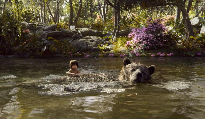 Bill Murray and Neel Sethi in The Jungle Book (2016)