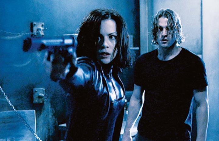 Kate Beckinsale and Scott Speedman in Underworld (2003)