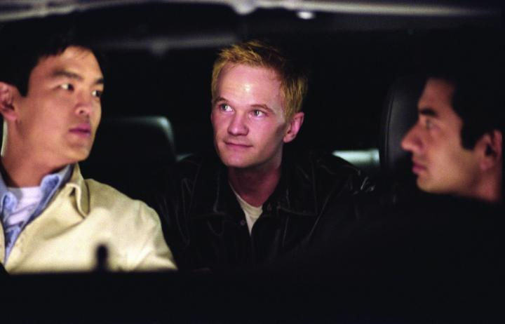 Neil Patrick Harris, John Cho, and Kal Penn in Harold & Kumar Go to White Castle (2004)
