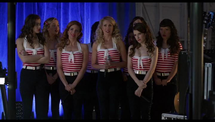Anna Kendrick, Brittany Snow, Anna Camp, Hana Mae Lee, Hailee Steinfeld, Alexis Knapp, and Kelley Jakle in Pitch Perfect 3 (2017)