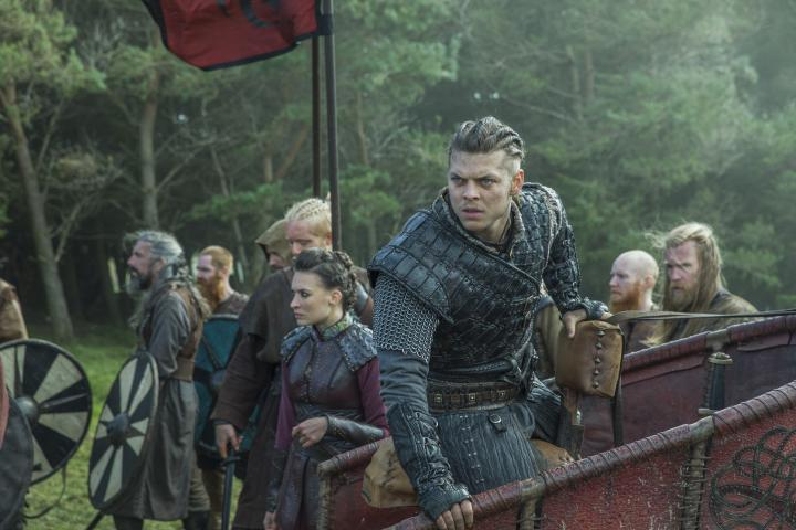 Josefin Asplund and Alex Høgh Andersen in Vikings (2013)