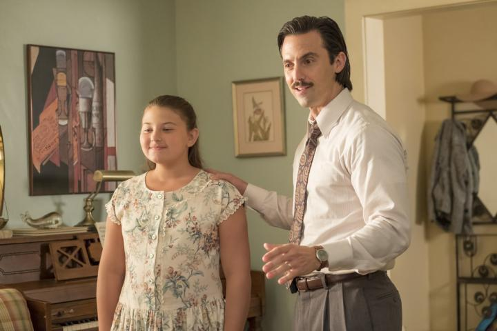 Milo Ventimiglia and Mackenzie Hancsicsak in This Is Us (2016)