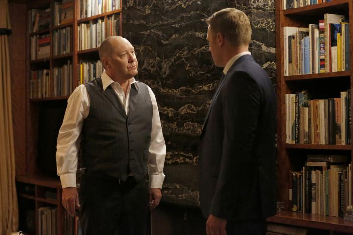 James Spader and Diego Klattenhoff in The Blacklist (2013)
