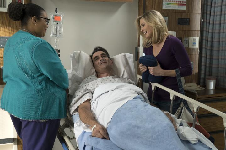 Julie Bowen, Ty Burrell, and Tatiana Varria in Modern Family (2009)