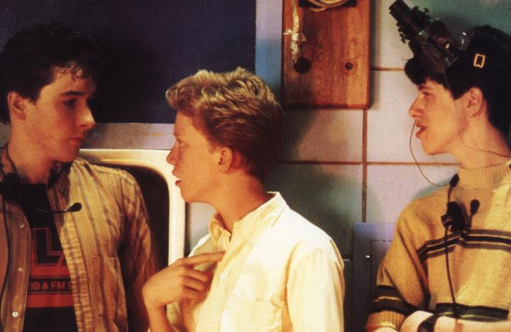 John Cusack, Anthony Michael Hall, and Darren Harris in Sixteen Candles (1984)