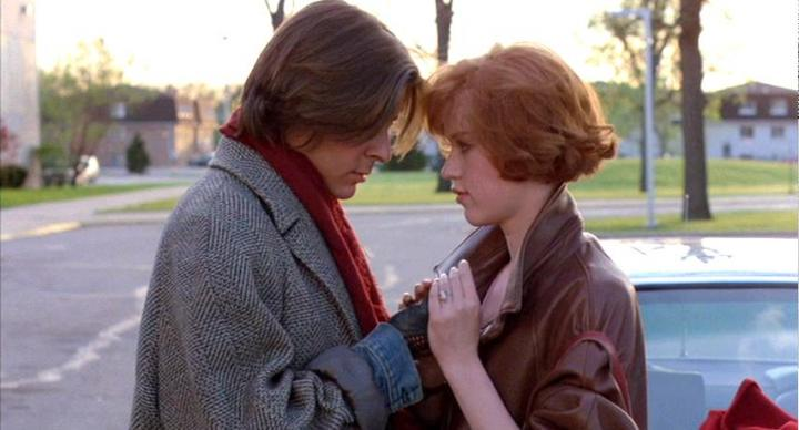 Molly Ringwald and Judd Nelson in The Breakfast Club (1985)