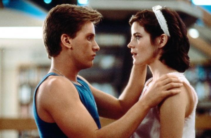 Emilio Estevez and Ally Sheedy in The Breakfast Club (1985)