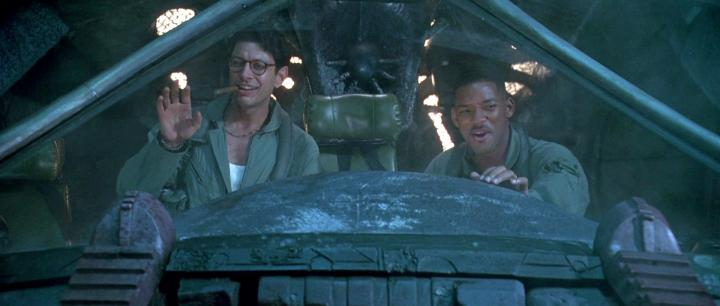 Jeff Goldblum and Will Smith in Independence Day (1996)