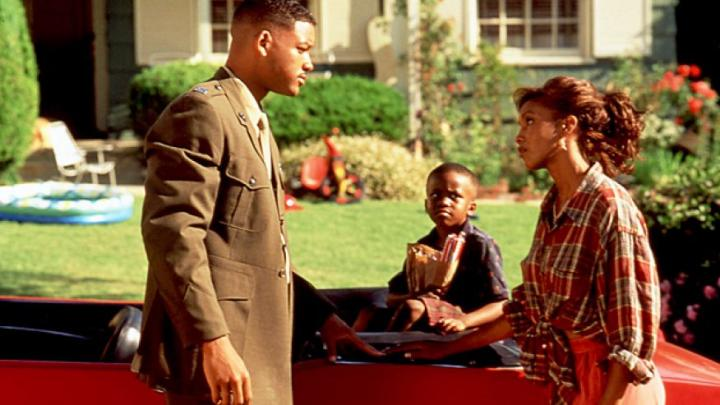 Will Smith, Vivica A. Fox, and Ross Bagley in Independence Day (1996)