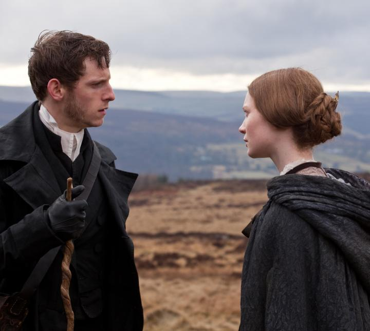Jamie Bell and Mia Wasikowska in Jane Eyre (2011)