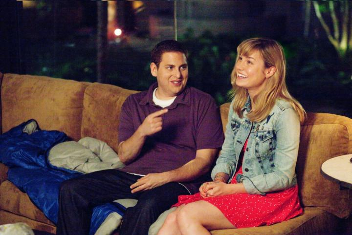 Brie Larson and Jonah Hill in 21 Jump Street (2012)