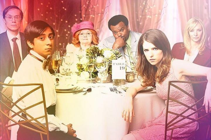 Lisa Kudrow, Anna Kendrick, Stephen Merchant, Craig Robinson, June Squibb, and Tony Revolori in Table 19 (2017)