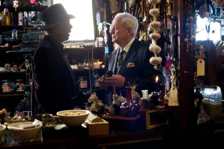 Morgan Freeman and Michael Caine in Now You See Me (2013)