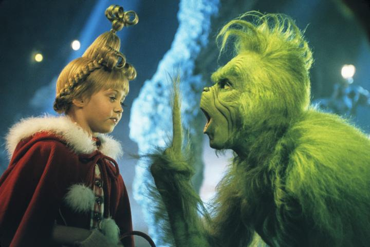 Jim Carrey and Taylor Momsen in How the Grinch Stole Christmas (2000)