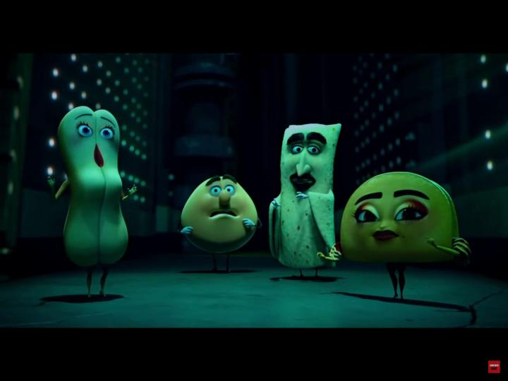 Salma Hayek, Edward Norton, David Krumholtz, and Kristen Wiig in Sausage Party (2016)