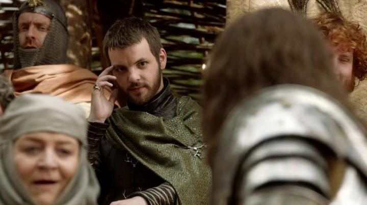 Susan Brown, Gethin Anthony, and Finn Jones in Game of Thrones (2011)