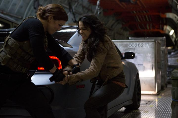 Michelle Rodriguez and Gina Carano in Furious 6 (2013)