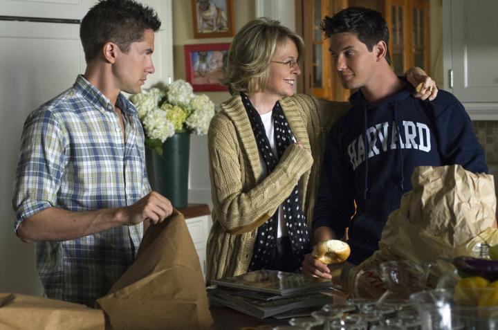 Diane Keaton, Topher Grace, and Ben Barnes in The Big Wedding (2013)
