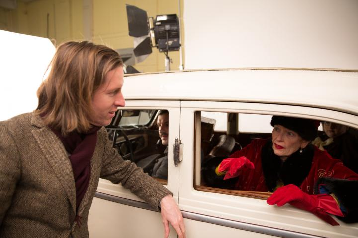 Wes Anderson and Tilda Swinton in The Grand Budapest Hotel (2014)