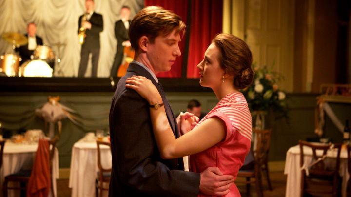 Saoirse Ronan and Domhnall Gleeson in Brooklyn (2015)
