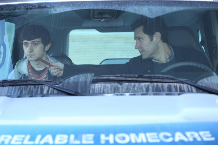 Paul Rudd and Craig Roberts in The Fundamentals of Caring (2016)
