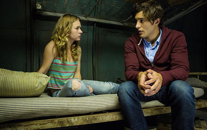 Britt Robertson and Alexander Koch in Under the Dome (2013)