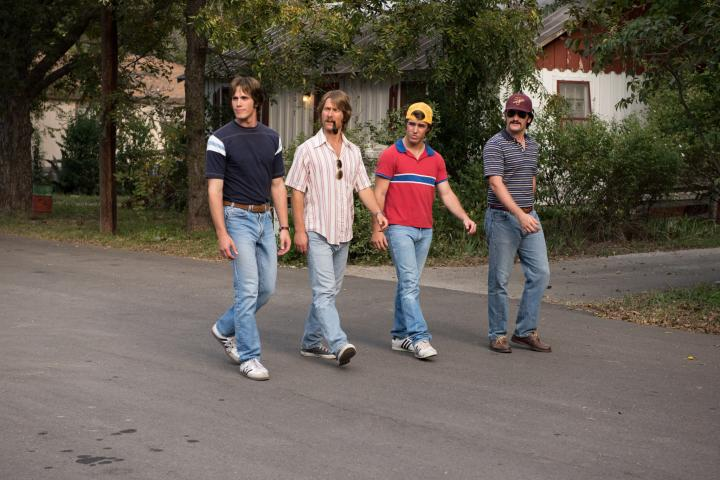 Glen Powell, Blake Jenner, Forrest Vickery, and Temple Baker in Everybody Wants Some!! (2016)