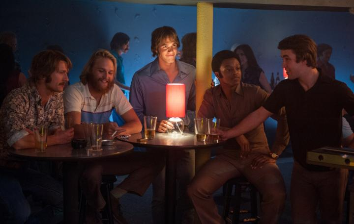 Dale Douglas, Wyatt Russell, Glen Powell, Blake Jenner, Temple Baker, and J. Quinton Johnson in Everybody Wants Some!! (2016)