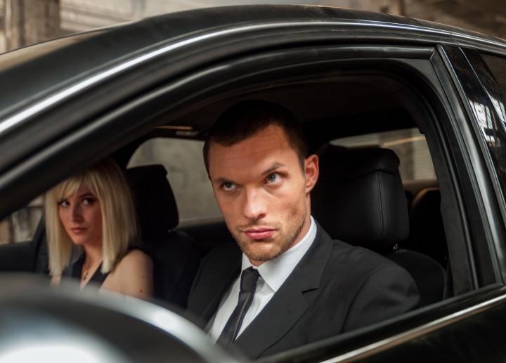 Ed Skrein and Loan Chabanol in The Transporter Refueled (2015)