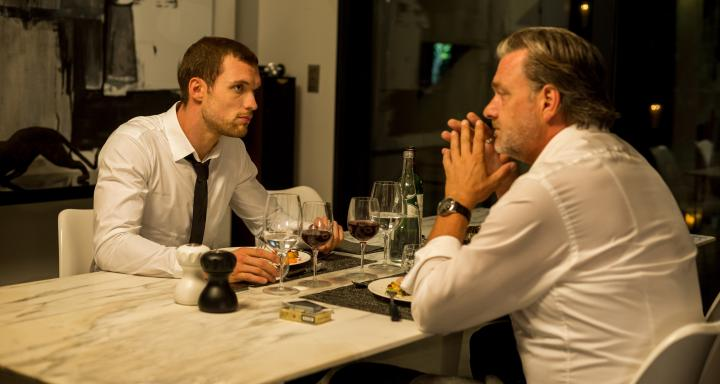 Ray Stevenson and Ed Skrein in The Transporter Refueled (2015)