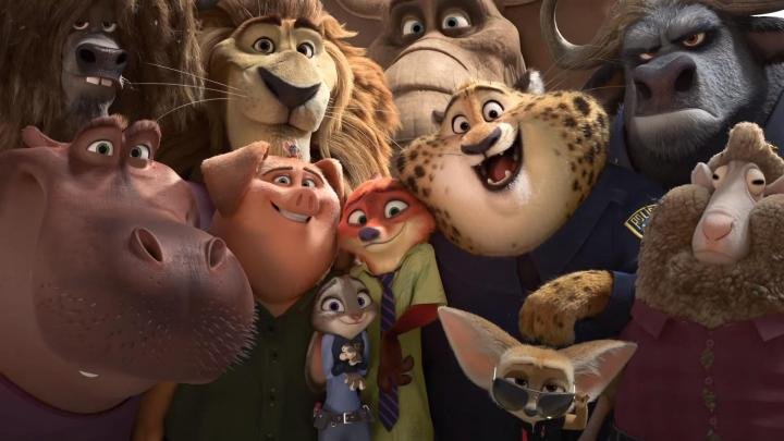 Jason Bateman, Idris Elba, Ginnifer Goodwin, J.K. Simmons, Nate Torrence, and Jenny Slate in Zootopia (2016)