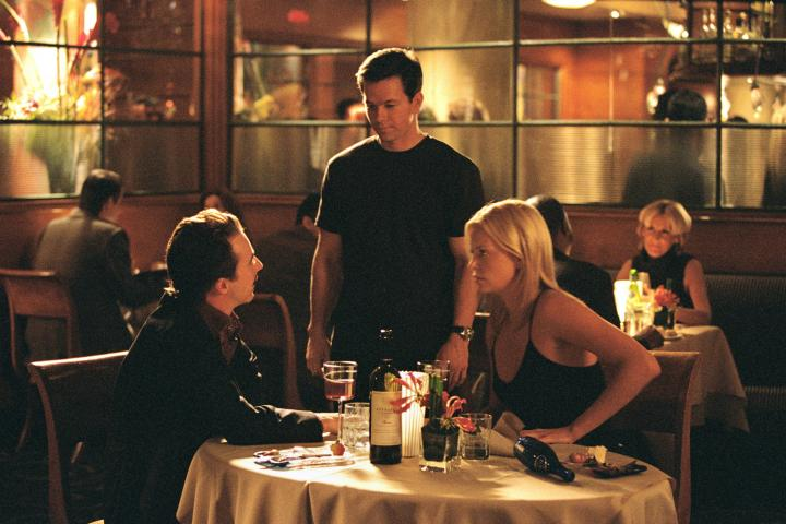 Charlize Theron, Mark Wahlberg, and Edward Norton in The Italian Job (2003)