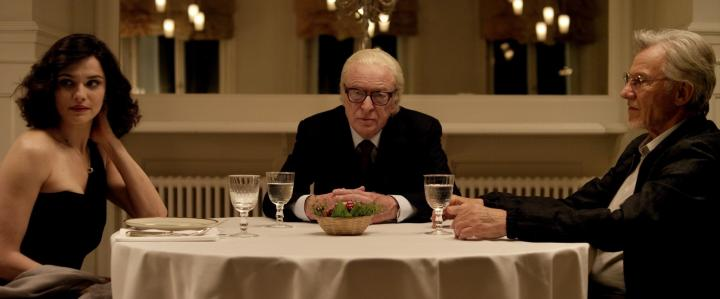Harvey Keitel, Michael Caine, and Rachel Weisz in Youth (2015)