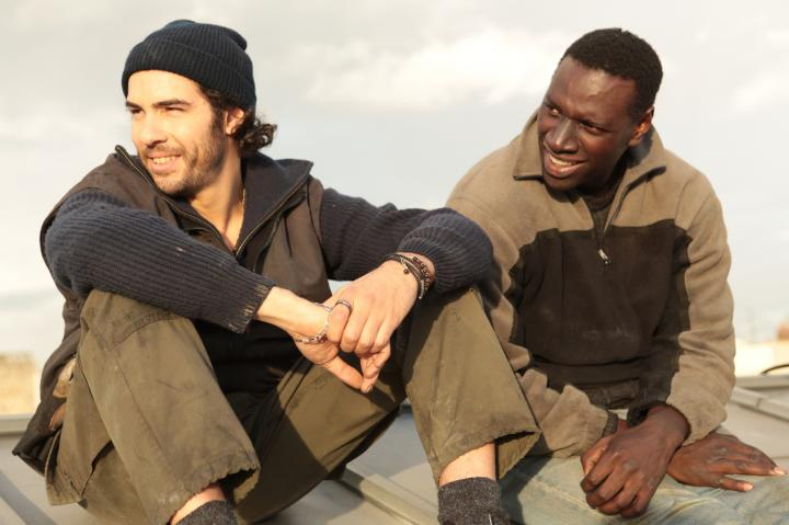 Omar Sy and Tahar Rahim in Samba (2014)