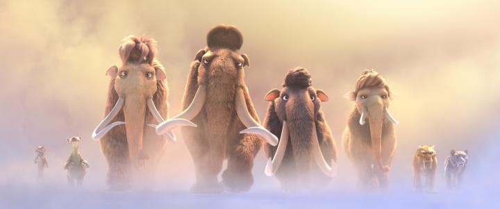 Jennifer Lopez, John Leguizamo, Queen Latifah, Denis Leary, Ray Romano, Simon Pegg, Keke Palmer, and Adam Devine in Ice Age: Collision Course (2016)