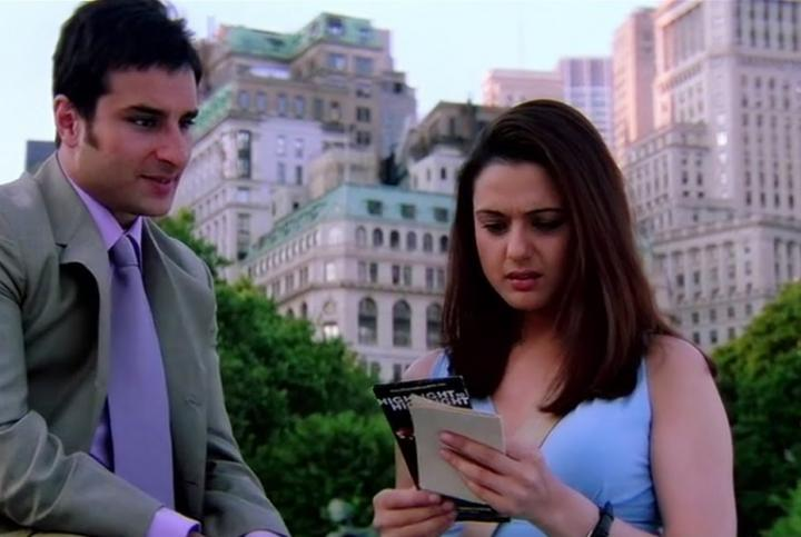 Preity Zinta and Saif Ali Khan in Kal Ho Naa Ho (2003)