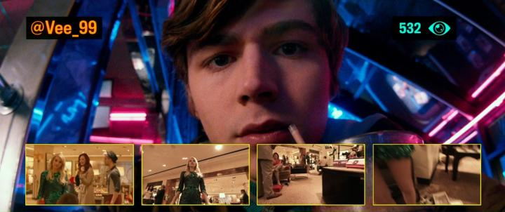 Emma Roberts and Miles Heizer in Nerve (2016)