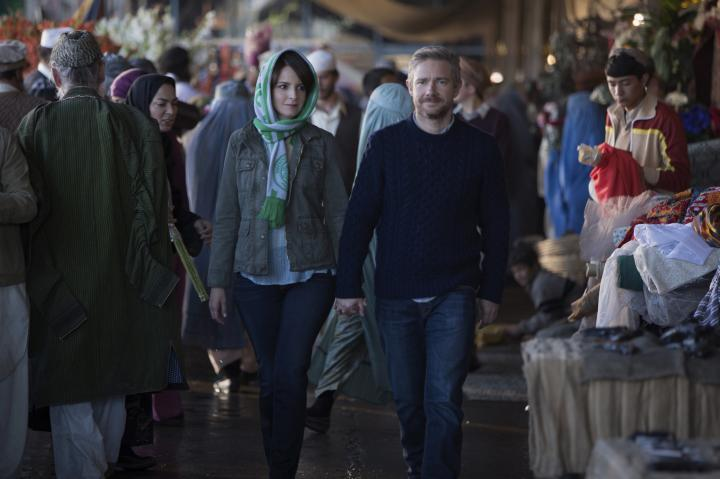 Tina Fey and Martin Freeman in Whiskey Tango Foxtrot (2016)