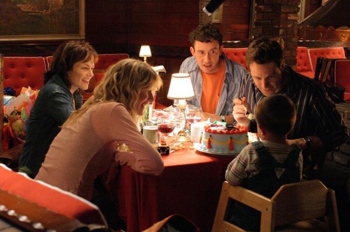 Laura Dern, David Sutcliffe, Steve Coogan, and Sarah Clarke in Happy Endings (2005)