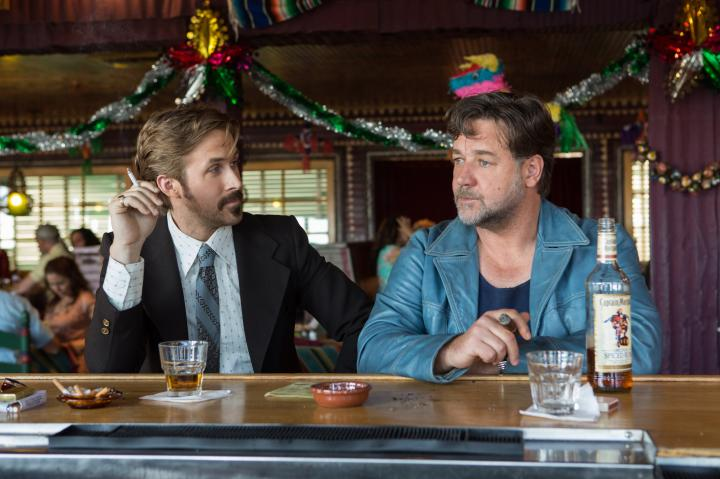 Russell Crowe and Ryan Gosling in The Nice Guys (2016)