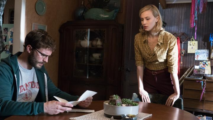 Sarah Gadon and Jamie Dornan in The 9th Life of Louis Drax (2016)