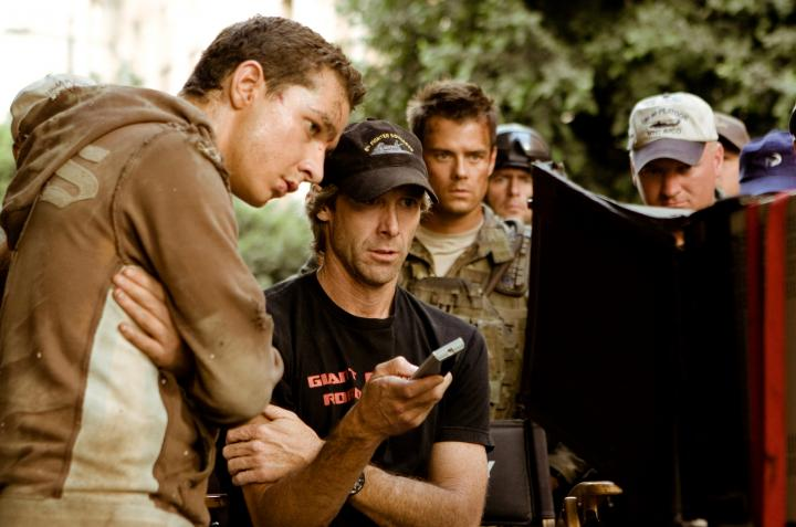 Michael Bay and Shia LaBeouf in Transformers (2007)
