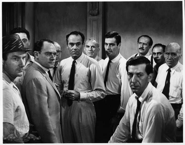 Henry Fonda, Martin Balsam, Jack Klugman, Ed Begley, E.G. Marshall, Joseph Sweeney, George Voskovec, Jack Warden, and Robert Webber in 12 Angry Men (1957)