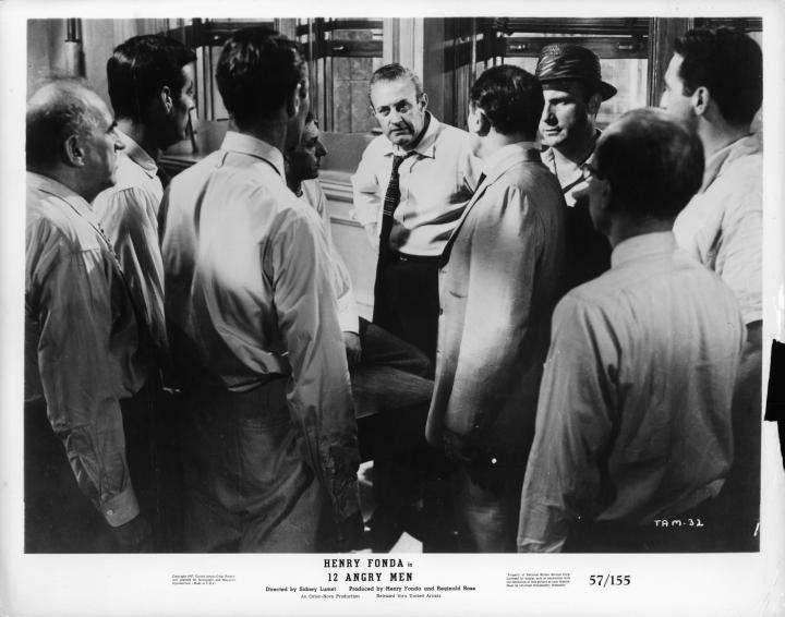 Henry Fonda, Jack Klugman, Lee J. Cobb, Ed Begley, Edward Binns, John Fiedler, E.G. Marshall, Jack Warden, and Robert Webber in 12 Angry Men (1957)